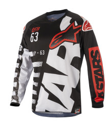 2018 Alpinestars Racer Jersey Braap Black/White/Red