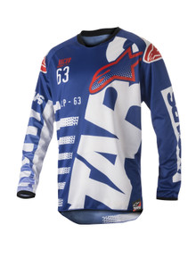 2018 Alpinestars Racer Jersey Braap Blue/White/Red