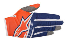 2018 Alpinestars Youth Gloves Radar Flight Orange Flou/Dark Blue/White