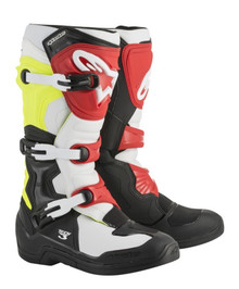 Alpinestars Tech-3 Motocross Boots Black/White/Yellow Flo/Red
