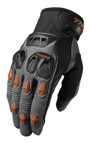 2018 Thor Defend Gloves Charcoal/Orange