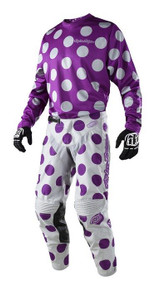 2018 Troy Lee Designs TLD GP Combo Polka Dot Purple/Grey