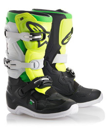 Alpinestars Tech 7S Youth Limited Edition MX Boots Prodigy Black/White/Green/Flo Yellow