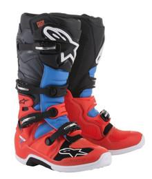 Alpinestars Tech 7 Boots Red Flo/Cyan/Grey/Black