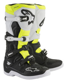 Alpinestars Tech-5 Motocross Boots Black/White/Yellow Fluo