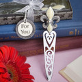 Fleur de Lis Design Bookmark Favor