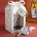 Ornamental Heart Shaped Bottle Opener with Laser Cut Favor Box