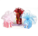 28 inch Round Organza Wraps w/ Corded Tassle - 6 pcs