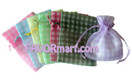 3 x 4 Gingham Organza Bags - 10 Pcs