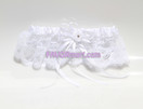 "2"" White Lace and Satin Garter"