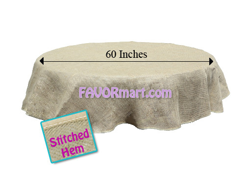 60 inch round burlap tablecloth for 60 burlap