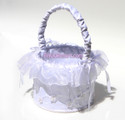 Embroidered Flower Girl Basket