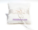 Ivory Simply Elegance Ring Pillow