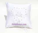 White Diamante Ring Pillow