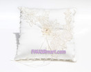 Ivory Floral Essence Ring Pillow