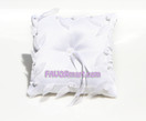 White Organza Leaves Ring Pillow