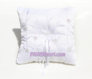 White Embroidery Ring Pillow