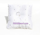 White Sparkle Ring Pillow