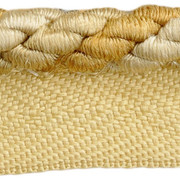 "CABLE CORD.CARAMEL T30560 by Threads Trim - Cotton 58%, Silk 28%, Polyester 14% China - H"" -, V: - .25 inches  - Fabric Carolina -  Threads"