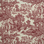 """LA1036.9 House Party Berry by Laura Ashley Fabric - Cotton 89%, Linen 11% USA Medium H"""" 27 inches, V: 27 inches 54 inches  - Fabric Carolina -  Laura Ashley"""