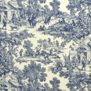 "LA1036.52 House Party Chambray by Laura Ashley Fabric - Cotton 89%, Linen 11% USA Medium H"" 27 inches, V: 27 inches 54 inches  - Fabric Carolina -  Laura Ashley"