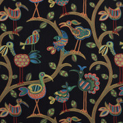 "Swavelle Millcreek Crazy Ol Bird Midnight Animal Bird Fabric  59% Rayon 41% Polyester 607448 China H: 28.5"" V: 27"" 54"