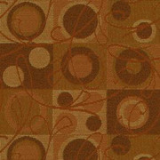 """Ambiance 44 Orange by Crypton Fabric - 57% Rayon 43% Recycled Polyester - Exceeds 50,000 Double Rubs. H: 7.2""""(18.2cm) Across the Roll., V: 12.4 """"(31.5cm) Up the Roll. 54"""" (137 cm)  - Fabric Carolina -  Crypton"""