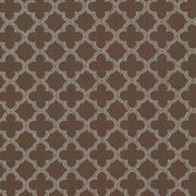 Abberley Trellis Chocolate by Kasmir Fabric 1438 67% Rayon 33% Polyester CHINA 18,000 Wyzenbeek Double Rubs H: 1 4/8 inches, V:1 4/8 inches 54 - Fabric Carolina - Kasmir