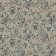 Amberlyn Floral Natural by Kasmir Fabric 8000 55% Polyester 45% Rayon CHINA 30,000 Wyzenbeek Double Rubs H: 28 4/8 inches, V:21 inches 54 - 56 - Fabric Carolina - Kasmir