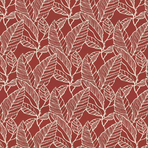 Banana Leaf Red Delicious by Kasmir Fabric 1435 53% Cotton 47% Polyester CHINA 60,000 Wyzenbeek Double Rubs H: 15 inches, V:16 inches 59 - Fabric Carolina - Kasmir