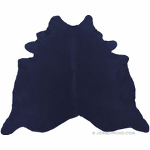 Dyed Navy Cowhide Rug
