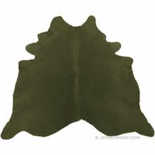 Dyed Khaki Cowhide Rug