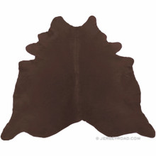 Dyed Chocolate Brown Cowhide Rug