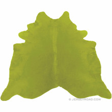 Dyed Lime Green Cowhide Rug
