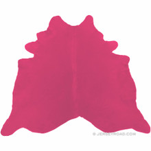 Dyed Hot Pink Cowhide Rug