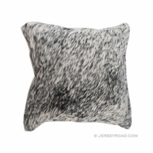 Salt & Pepper Black Cowhide Pillow