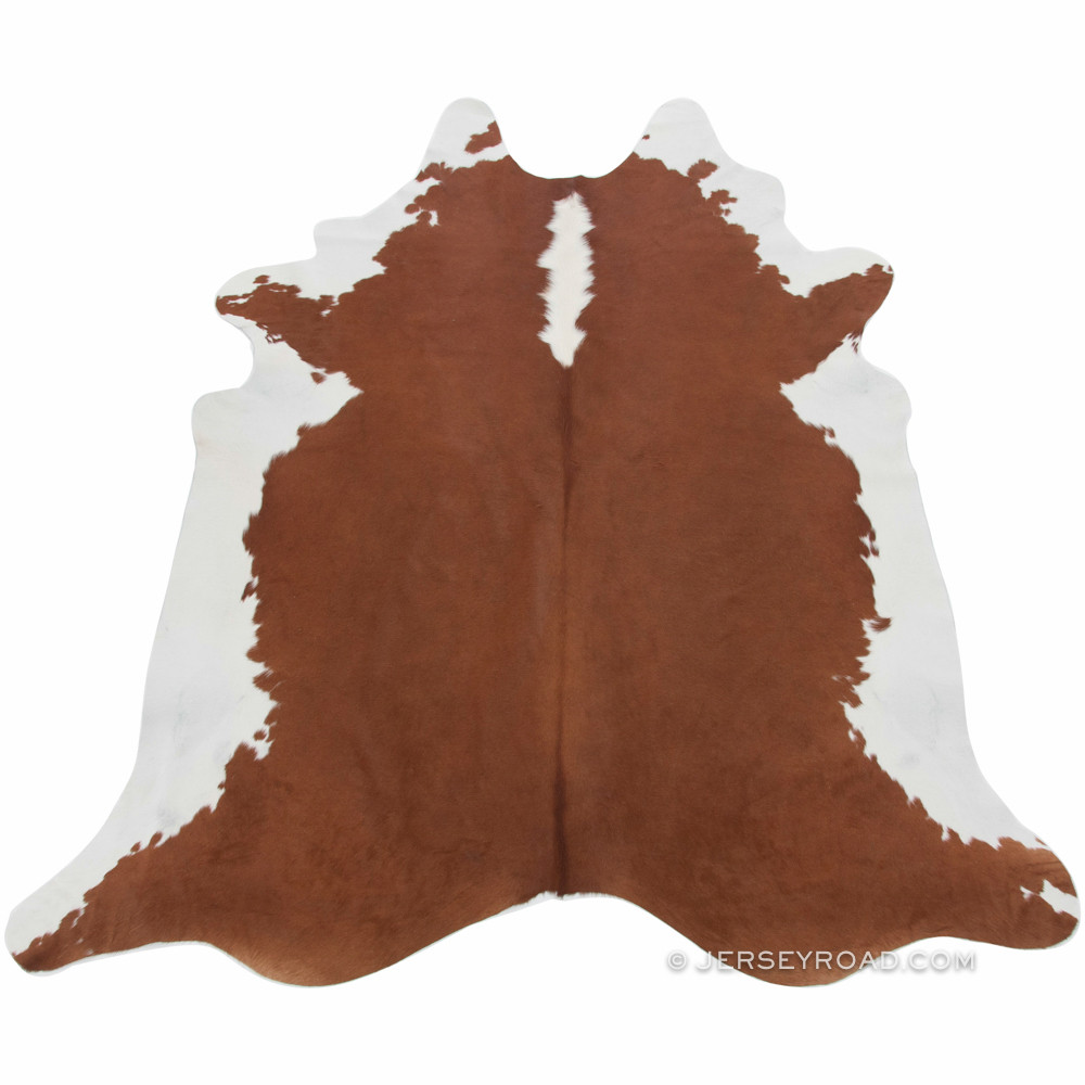 Brown And White Cowhide Rug Hereford Brown White Cowhide