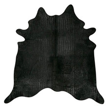 Crocco Black Dyed Cowhide Rug