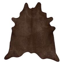 Crocco Choc Dyed Cowhide Rug