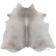 Light Natural Gray Cowhide Rug