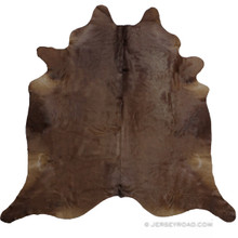 Solid Chocolate Brown Natural Cowhide Rug