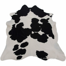 Black and White 50/50 Cowhide Rug