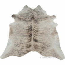 Light Brindle Gray Cowhide Rug