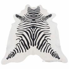 Zebra Print Cowhide Rug (Off-White)
