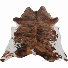 Brindle with White Belly Cowhide Rug