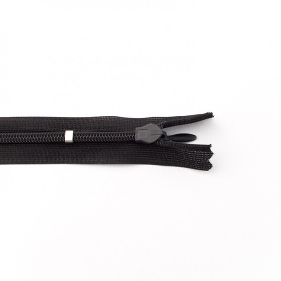 Adjustable Length Invisible Zipper: Black (60 cm)