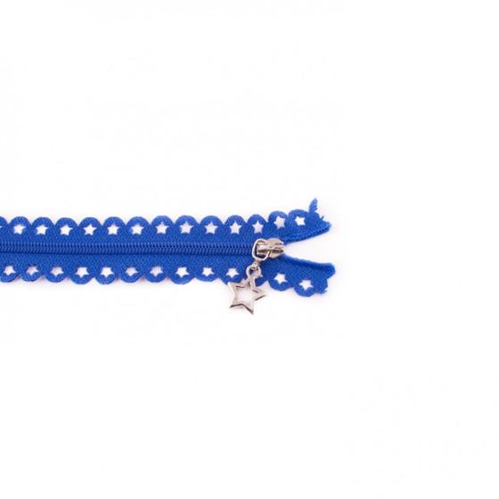Star Cut Zipper: Royal Blue (25 cm)