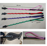 Set Of 4 X Horse Riding Crop Massage Whips W/ Strap