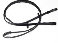 Unicorn Webbing & Black Leather Rein