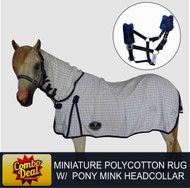 Miniature Polycotton Combo Rug With Matching Pony Mink Headcollar